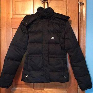 Women's Adidas Black Heavy Down Puffer coat